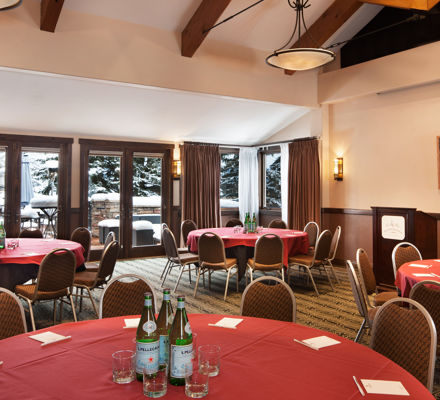 The Columbine meeting room inside the Stonebridge Inn, Snowmass Village, Colorado