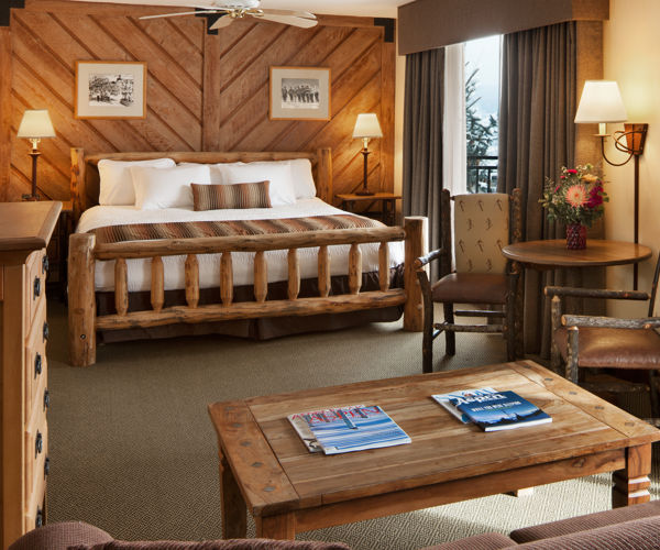 A king suite at the Stonebridge Inn, Snowmass Village, Colorado
