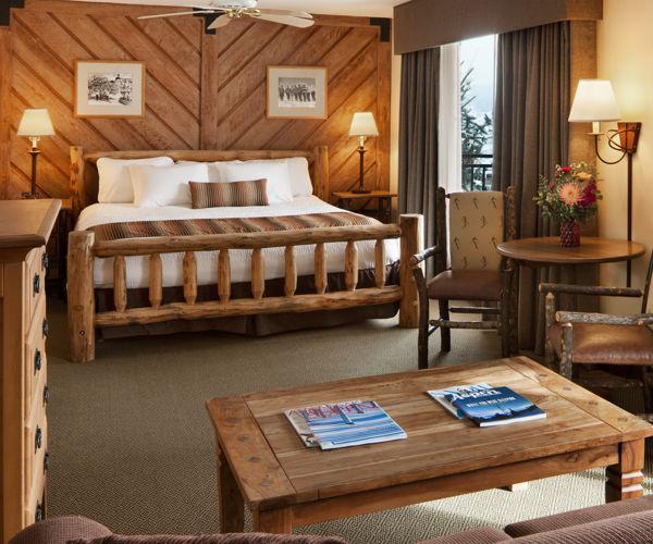 A king suite at the Stonebridge Inn, Snowmass Village, Colorado