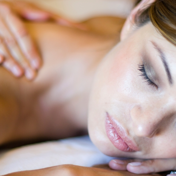 Woman Getting Wedding Massage