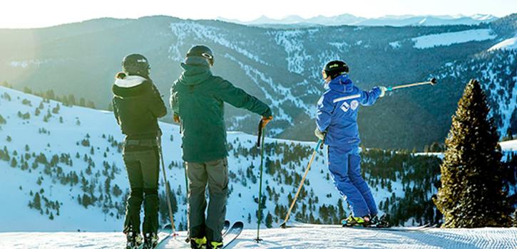 Ski Lift Among Snow Covered Mountains
