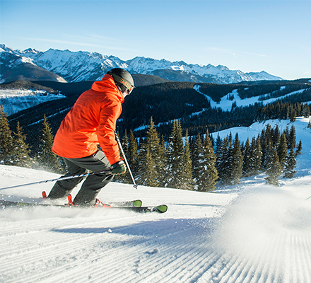 skiing Vail Mountain