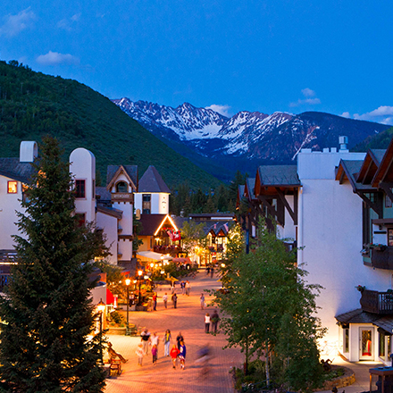Vail Village In Snow
