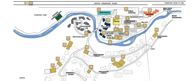 Vail Residences At Hotel Talisa Resort Map