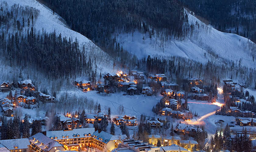 Vail Residences At Hotel Talisa Aerial View In Winter