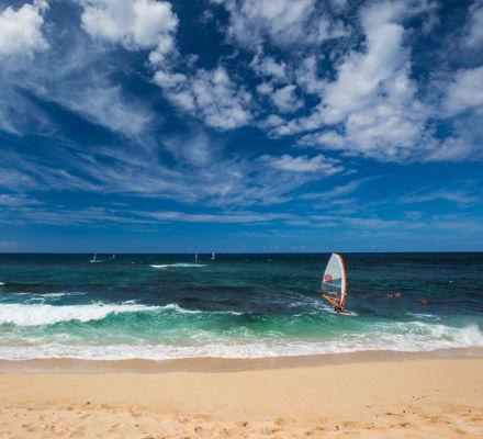 Windsurfer at Hookipa Beach Park