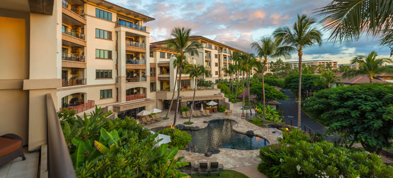 Wailea Beach Villas penthouses, pool and grounds
