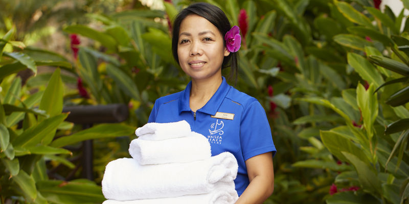 Wailea Beach Villas lead housekeeper