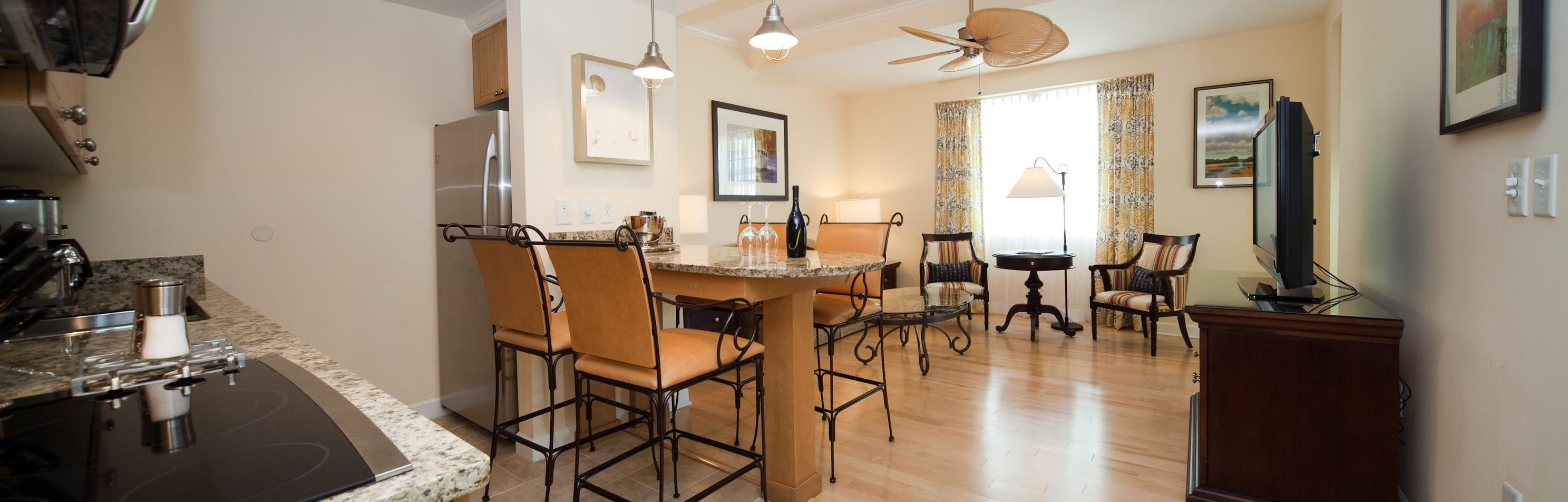Wild Dunes_Accommodations_Village_1BR_KitchenandLivingRoom1