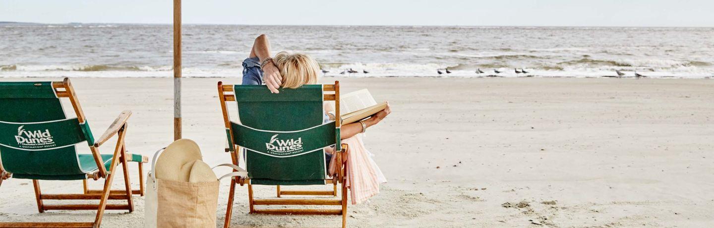 Women relaxing on the beach.