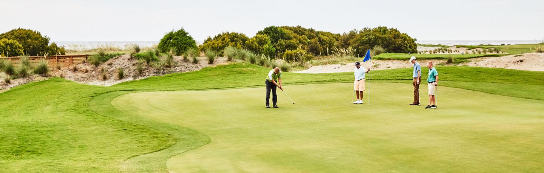 foursome golfing