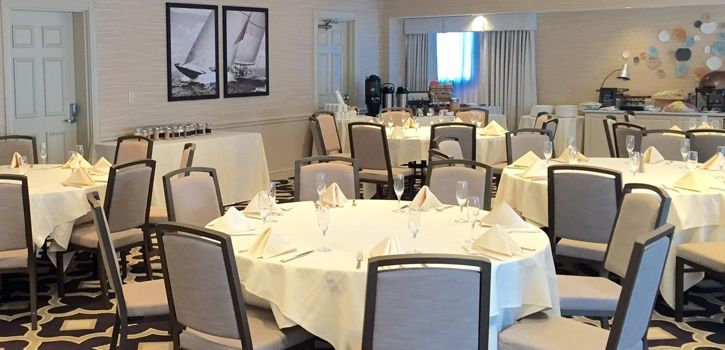 Boardwalk Inn Club Room with in house set
