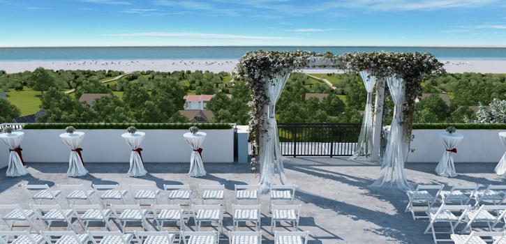 Rooftop Wedding Beach Image