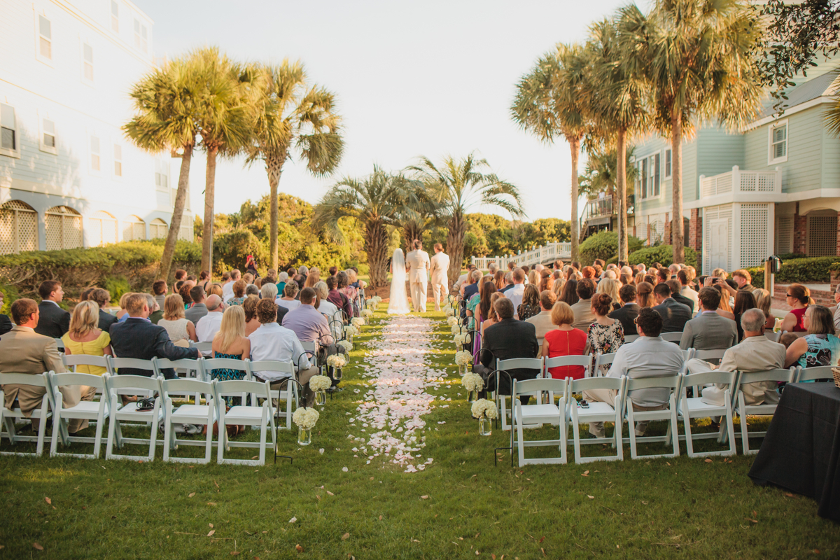 Ceremony held on one of our beautiful Croquet Lawns