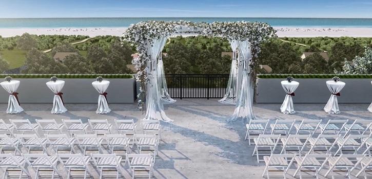 New Hotel Rooftop Wedding