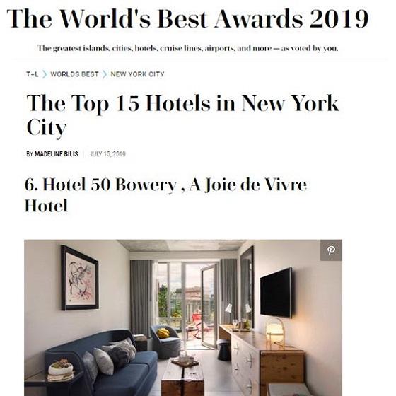50 Bowery World's Best