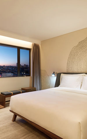 Standard Room with view to Sanlitun nightlife leisure area