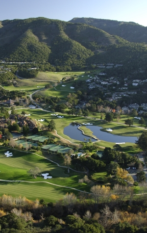 Carmel Valley Ranch Golf Course Aerial View