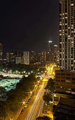Nighttime View of Chicago