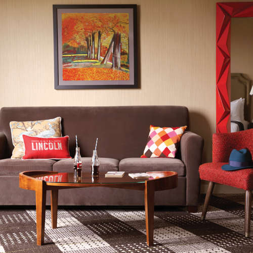 Hotel Lincoln: Junior Suite Sitting Area