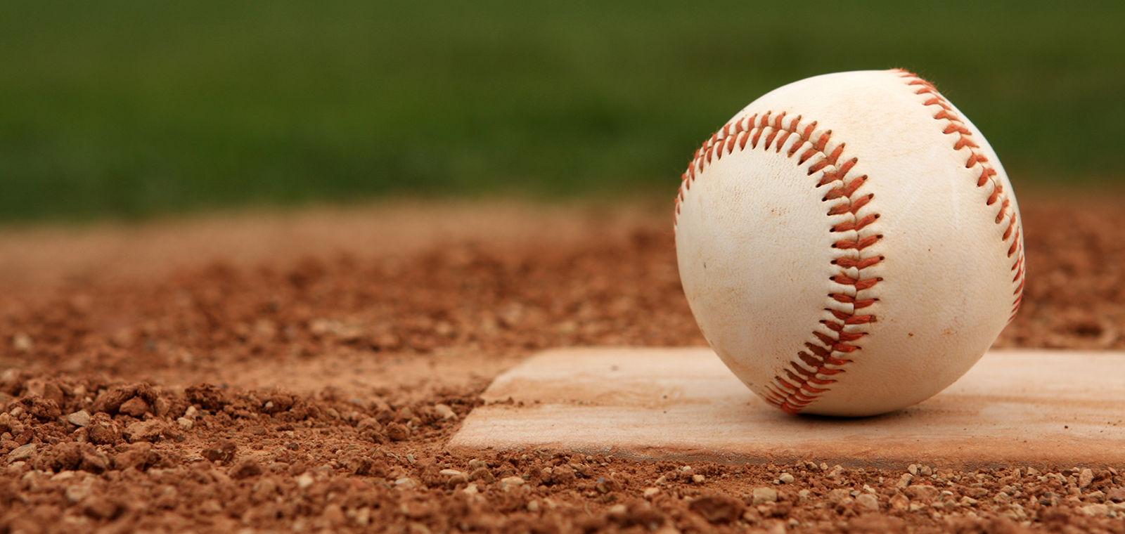 Baseball Sitting On Base