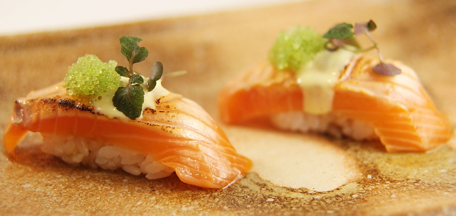 Salmon Sashimi From o ya