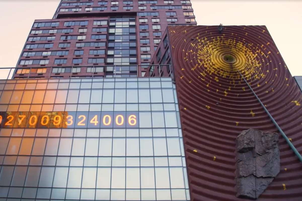 Art Installation on Building in NYC