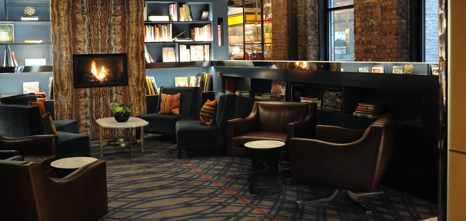 Park South_Interior_Lobby Fireplace
