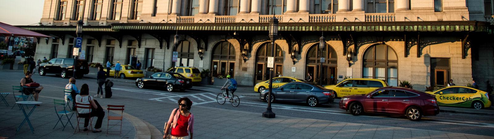 Baltimore Penn Station Front Doors