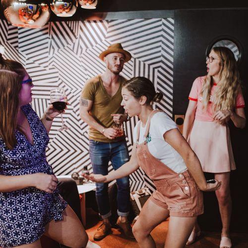 Karaoke Rooms. Photo credit: @thebmorecreatives