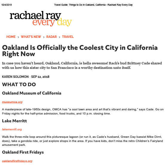 Rachael Ray Article