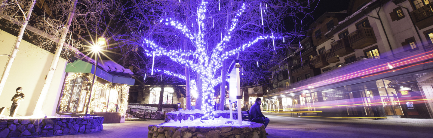 <b>Nightlife in the village in Vail, CO.</b>