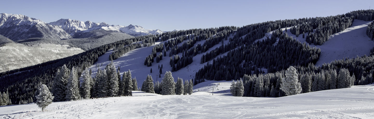 <b>Groomed trail in Vail, CO.</b>