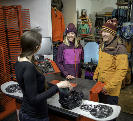 <b> Family shopping at Vail Sports in Vail, CO. </b>
